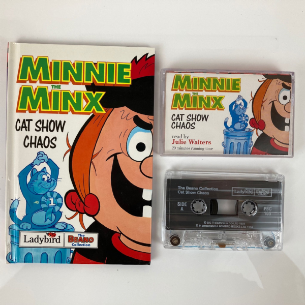LADYBIRD Minnie the Minx Book & Audio Cassette Tape by Julie Walters
